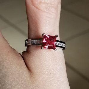 Jewelry - 🆕️Sterling Silver- Ruby & White Sapphire Ring